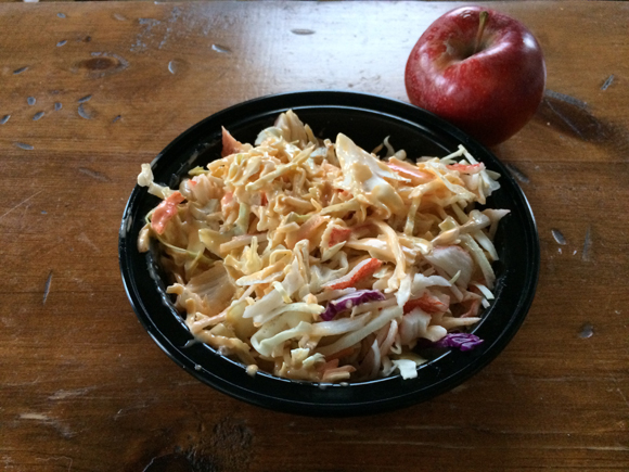 spicy crab coleslaw